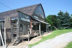 西方老场面的城镇 免版税库存照片