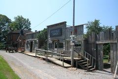 西方老场面的城镇 免版税库存图片