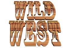 西方通配 向量例证