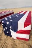西方阿灵顿的棺材 免版税库存照片