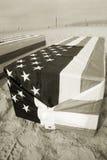西方阿灵顿的棺材 库存照片
