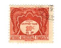 西方非洲法国老的印花税 免版税图库摄影