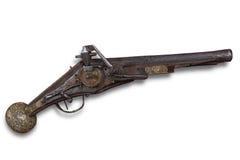西方17世纪欧洲火石的枪 免版税库存图片