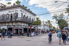 西方duval佛罗里达关键的街道 图库摄影