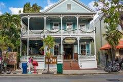 西方duval佛罗里达关键的街道 免版税库存照片