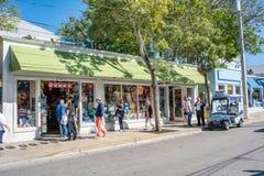 西方duval佛罗里达关键的街道 免版税库存图片
