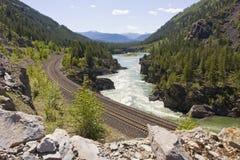 西方kootenai蒙大拿北部的河 免版税图库摄影