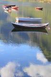 西方lofoten´s湖 库存图片