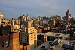 西方nyc副地平线上面的远景 免版税库存图片