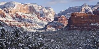 西方sedona的暴风雪 免版税库存照片