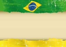 巴西旗子羊皮纸 免版税图库摄影