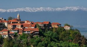 西格纳吉是爱城市在乔治亚 免版税库存照片