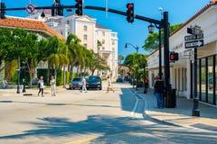 西棕榈海滩都市风景 库存图片