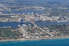 西棕榈海滩,佛罗里达地平线  图库摄影