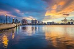 西棕榈海滩佛罗里达 免版税库存图片