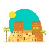 西比卢克索神庙平的设计在埃及 免版税库存图片