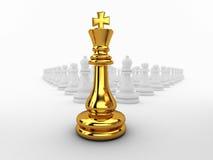 西洋棋棋子国王领导先锋。 图库摄影