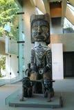 西海岸印地安BC雕刻,温哥华 免版税库存照片