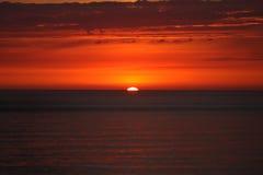 西海岸日落 库存图片