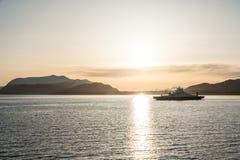 西海岸轮渡在挪威 图库摄影