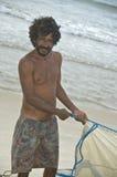巴西渔人 免版税库存照片