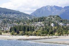 西温哥华海滩 免版税库存照片