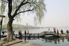 西湖在杭州,瓷 库存照片