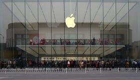 西湖的杭州苹果计算机商店在中国 库存图片