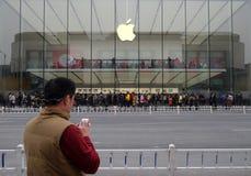 西湖的杭州苹果计算机商店在中国 图库摄影