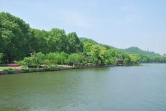 西湖的秀丽在杭州 免版税库存图片