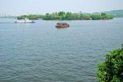 西湖的秀丽在杭州 库存图片