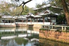 西湖(xihu)在中国的杭州在雪以后的冬天 免版税库存图片