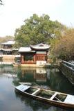 西湖(xihu)在中国的杭州在雪以后的冬天 免版税库存照片