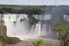 巴西瀑布河用棕色水 免版税库存照片
