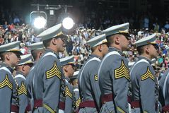 西点军校毕业2015年 库存照片