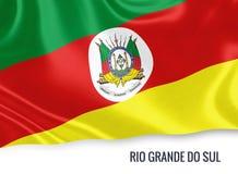 巴西状态南里奥格兰德州旗子 向量例证