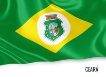 巴西状态塞阿拉州旗子 库存例证