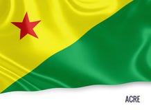 巴西状态英亩旗子 库存例证