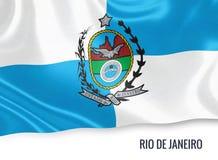 巴西状态里约热内卢旗子 向量例证