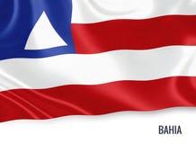 巴西状态巴伊亚旗子 皇族释放例证