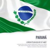 巴西状态巴拉那旗子 库存例证