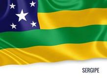 巴西状态Sergipe旗子 库存例证