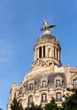 西班牙。巴塞罗那。古老大厦在Passage de Gracia。 免版税库存图片