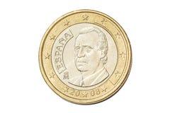 西班牙一枚欧洲硬币 免版税库存照片