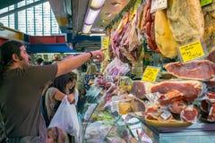 西班牙专业fom Ataranzanas中央的3月顾客 免版税库存图片