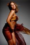 西班牙丝绸妇女 免版税库存图片