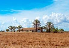 西班牙中世纪乡间别墅 免版税库存照片