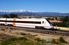 西班牙中等距离火车,瓜迪克斯 库存图片