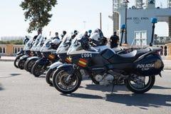 西班牙交通警摩托车 免版税图库摄影