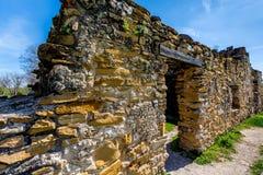 1780西班牙人使命圣胡安卡皮斯特拉努,得克萨斯 库存图片